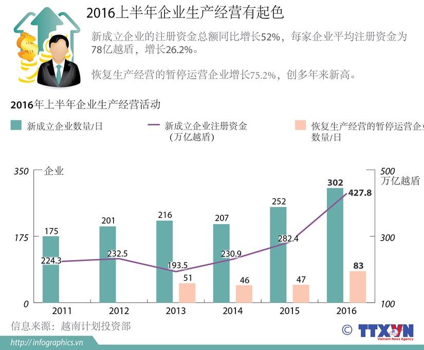 2016年上半年企业生产经营有起色 hinh anh 1