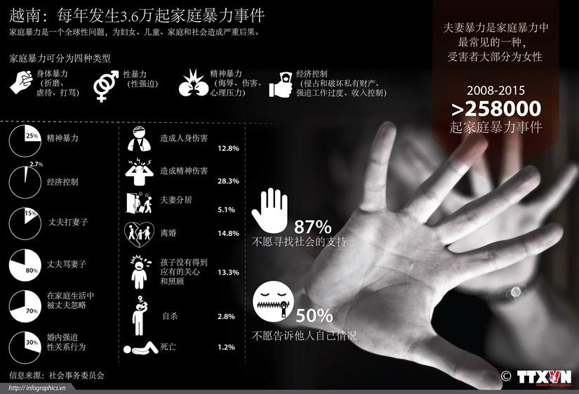 越南:每年发生3.6万起家庭暴力事件 hinh anh 1