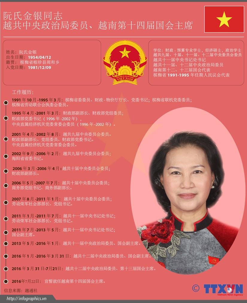 越南第十四届国会主席阮氏金银简历 hinh anh 1