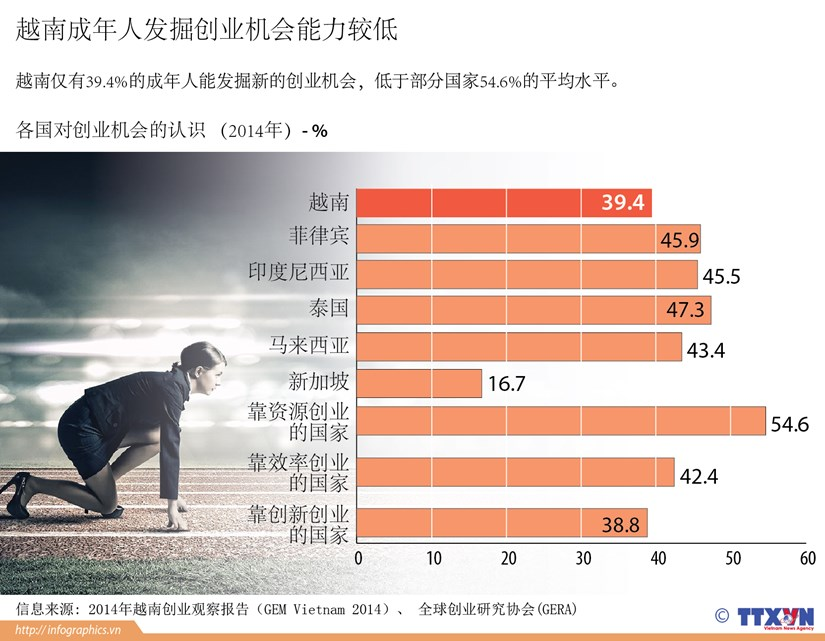 越南成年人发掘创业机会能力较低 hinh anh 1