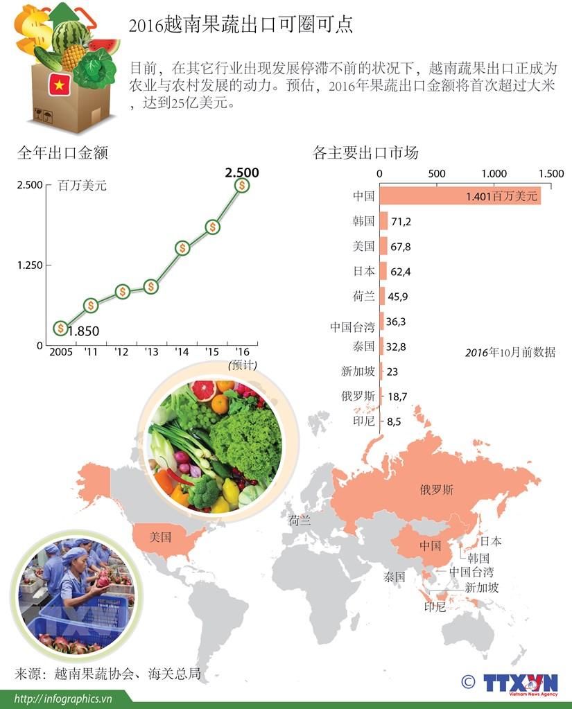 2016越南果蔬出口可圈可点 hinh anh 1