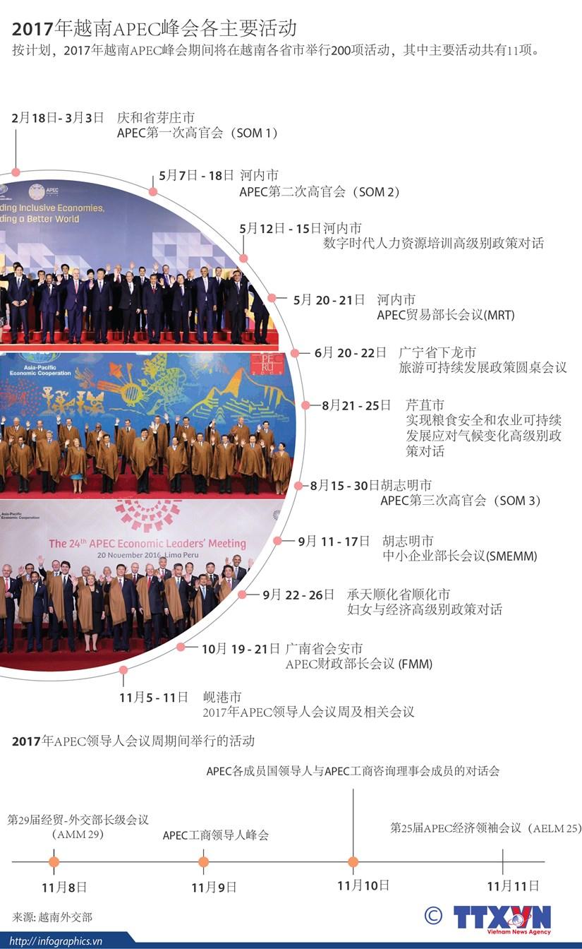 2017年越南APEC峰会各主要活动 hinh anh 1