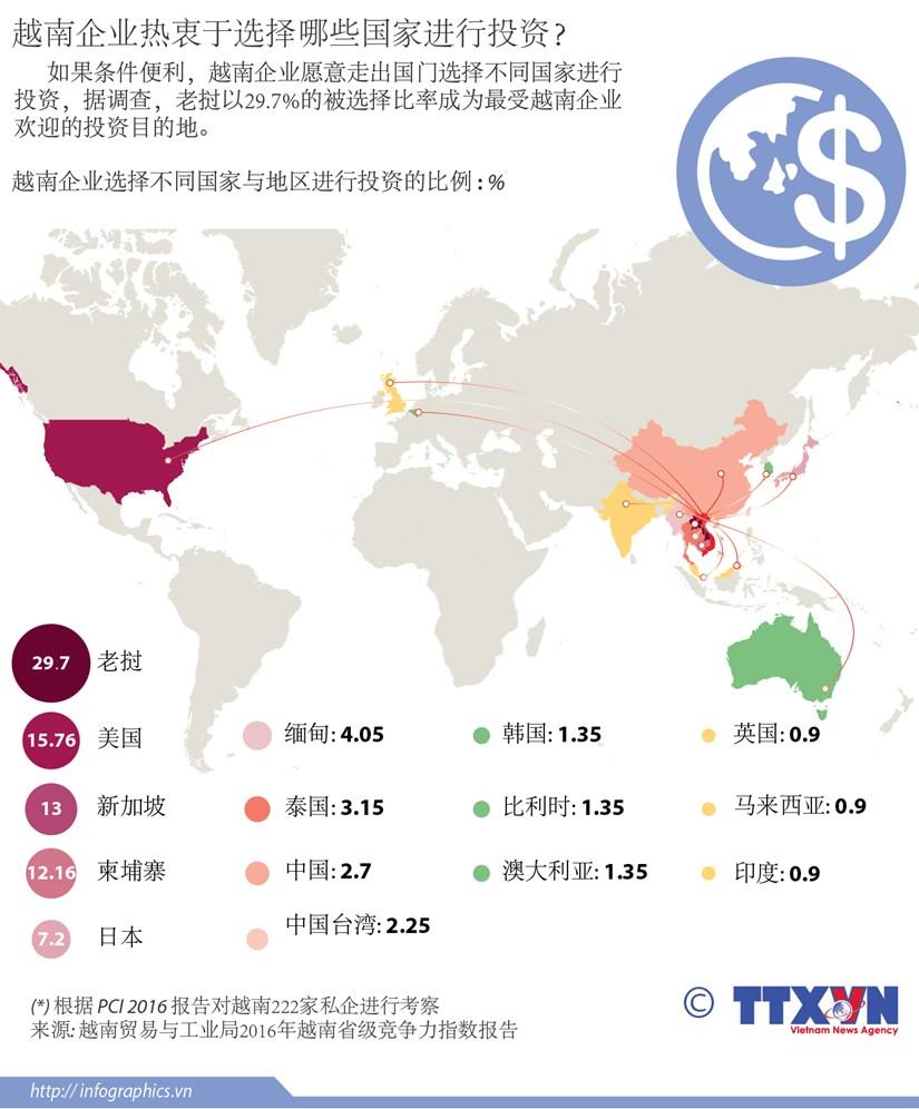 越南企业热衷于选择哪些国家进行投资? hinh anh 1