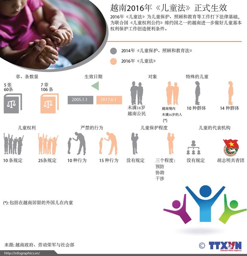越南2016年《儿童法》正式生效 hinh anh 1