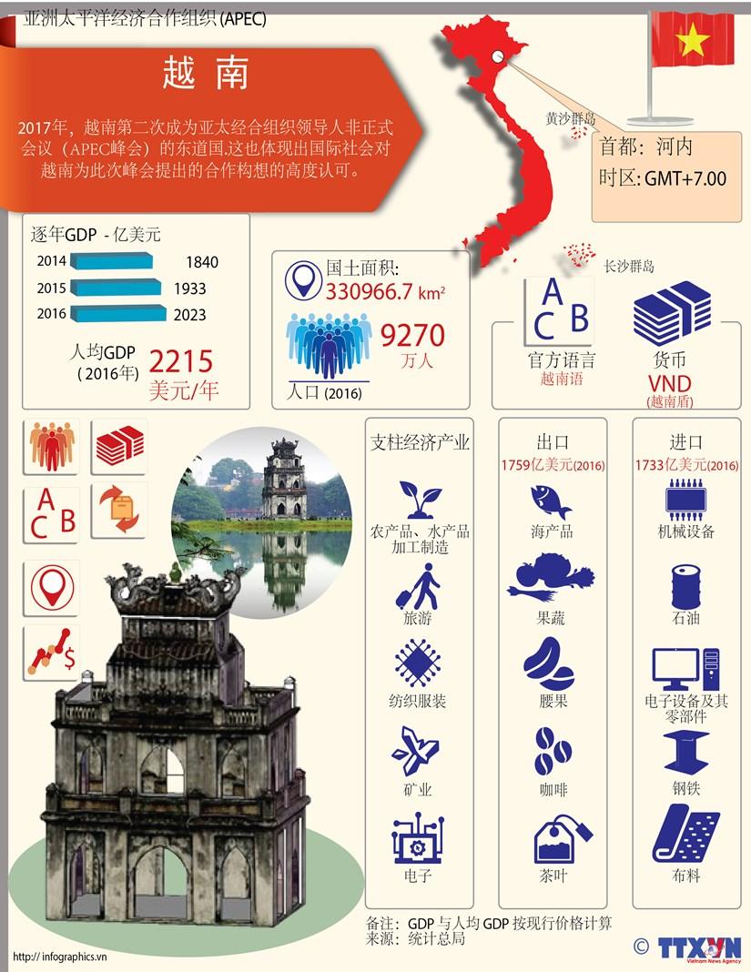 图表新闻:亚太经合组织成员经济体——越南 hinh anh 1