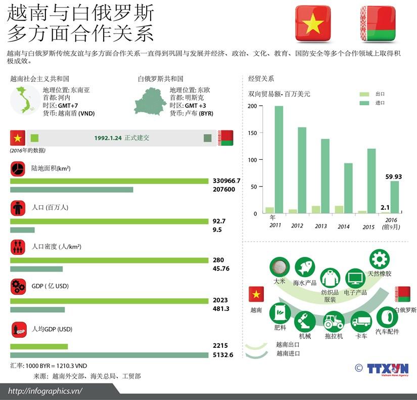 图表新闻:越南与白俄罗斯多方面合作关系简介 hinh anh 1