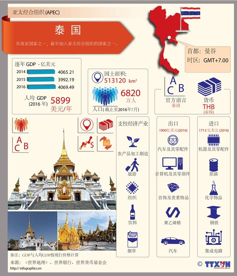 图表新闻:亚太经合组织成员经济体——泰国 hinh anh 1