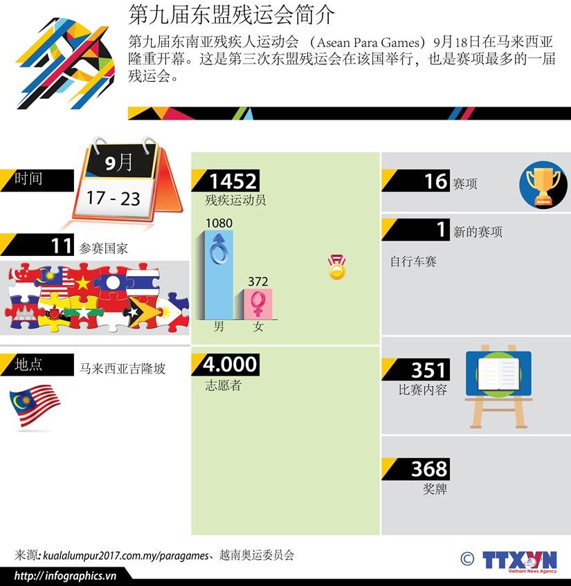 图表新闻:第九届东南亚残运会简介 hinh anh 1