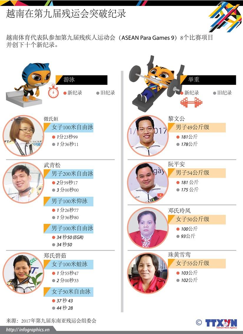 图表新闻:越南在第九届东南亚残运会突破纪录 hinh anh 1