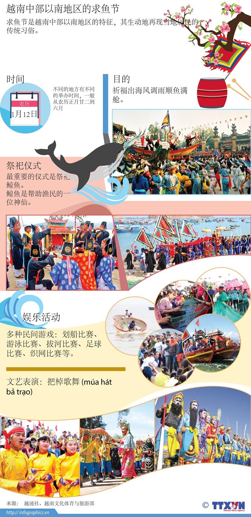 图表新闻:越南中部以南地区的求鱼节 hinh anh 1