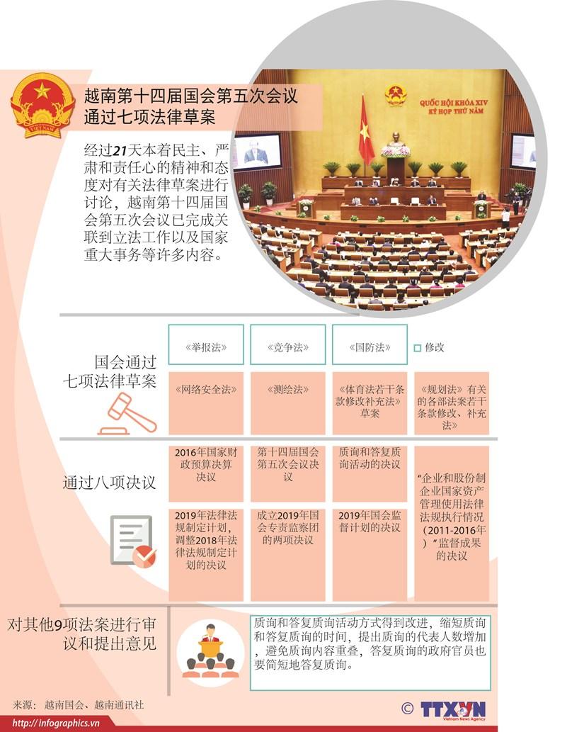 图表新闻:越南第十四届国会第五次会议圆满落幕 hinh anh 1