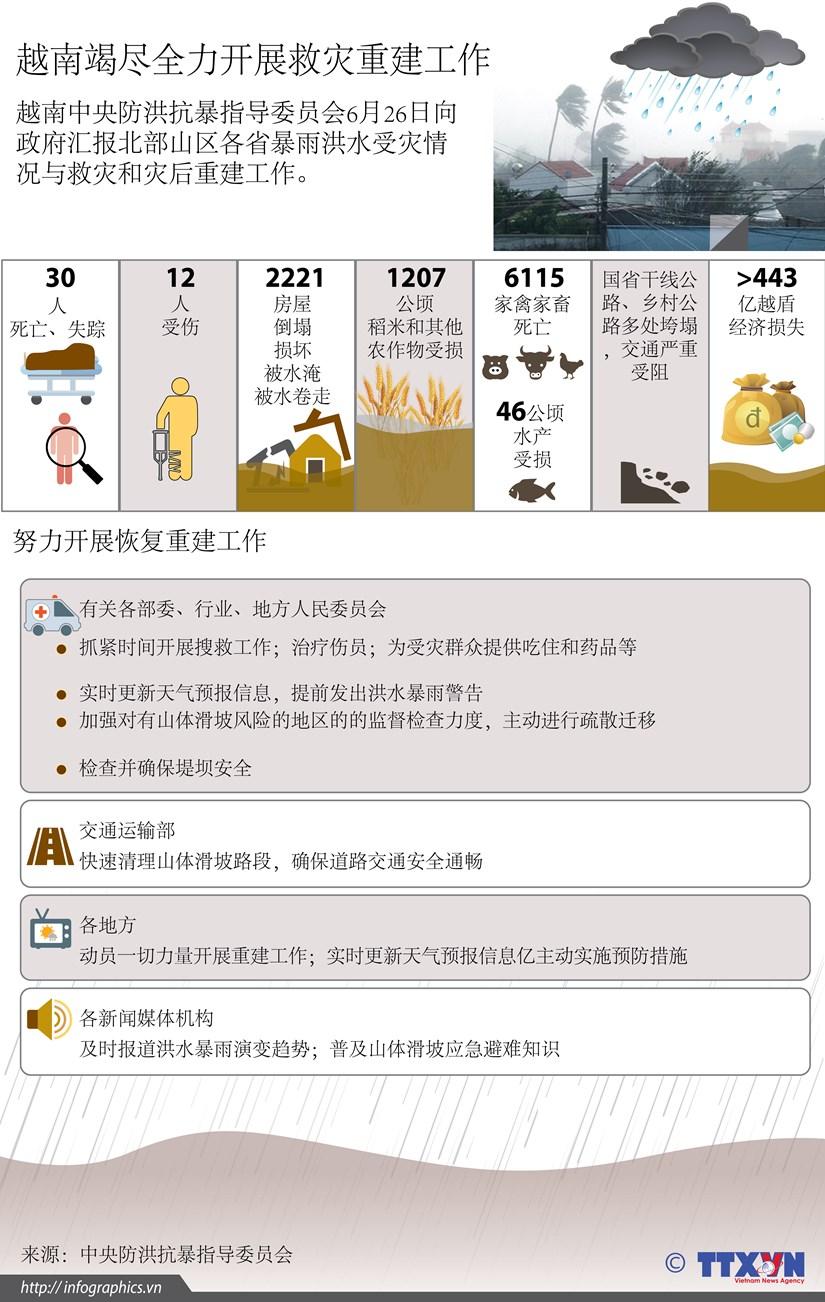 图表新闻:越南竭尽全力开展救灾重建工作 hinh anh 1
