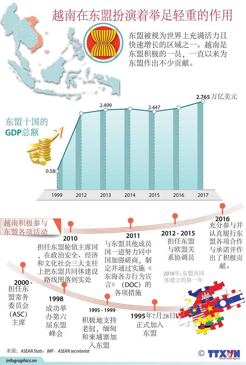 图表新闻:越南在东盟扮演着举足轻重的作用 hinh anh 1