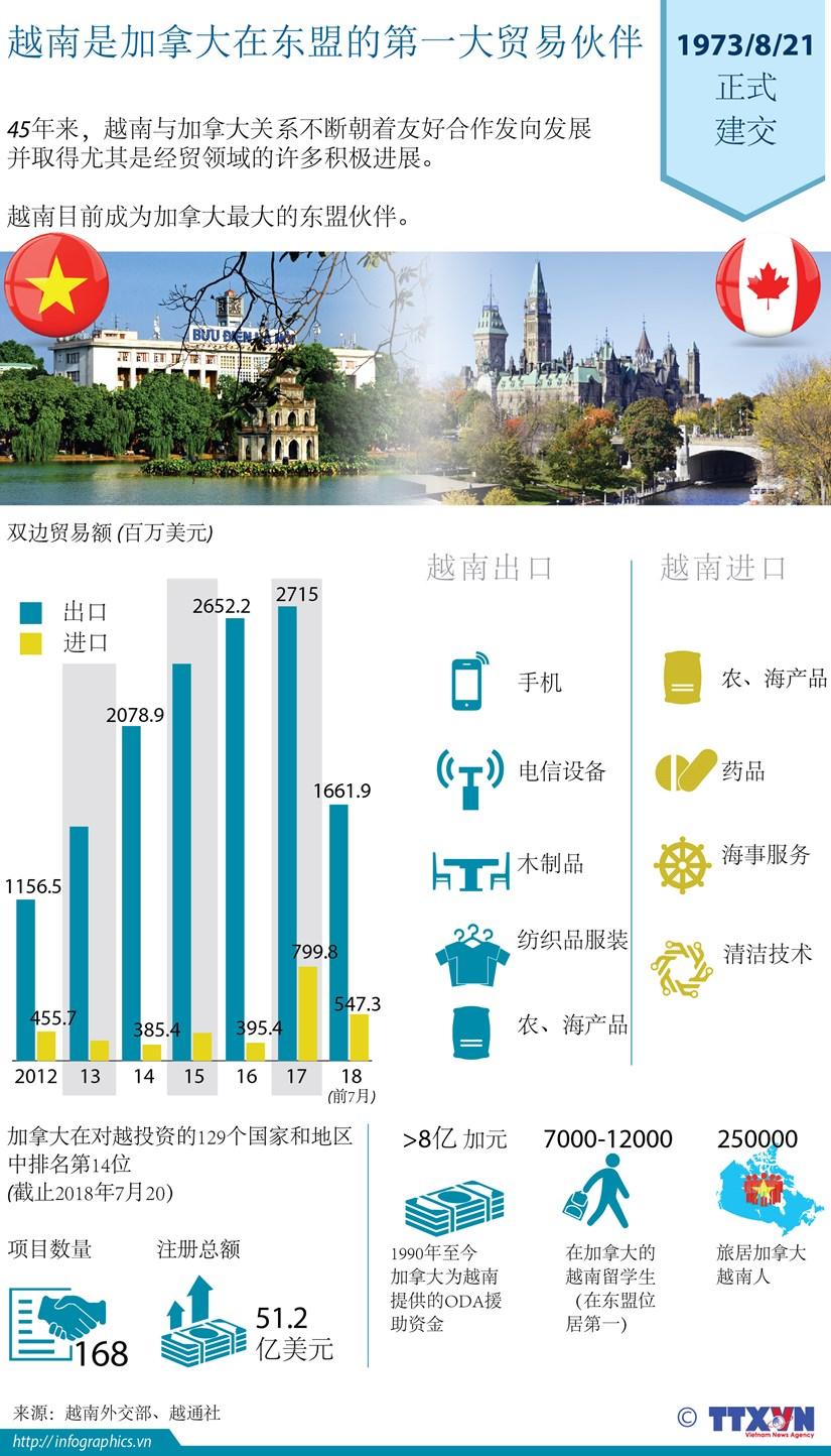 图表新闻:越南是加拿大在东盟的第一大贸易伙伴 hinh anh 1