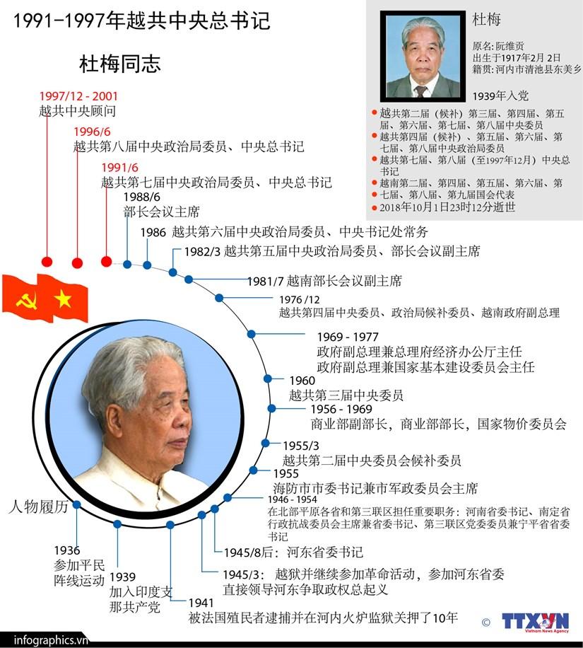 图表新闻:1991-1997年越共中央总书记杜梅同志 hinh anh 1