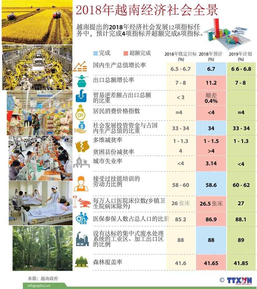 图表新闻:2018年越南经济社会全景 hinh anh 1