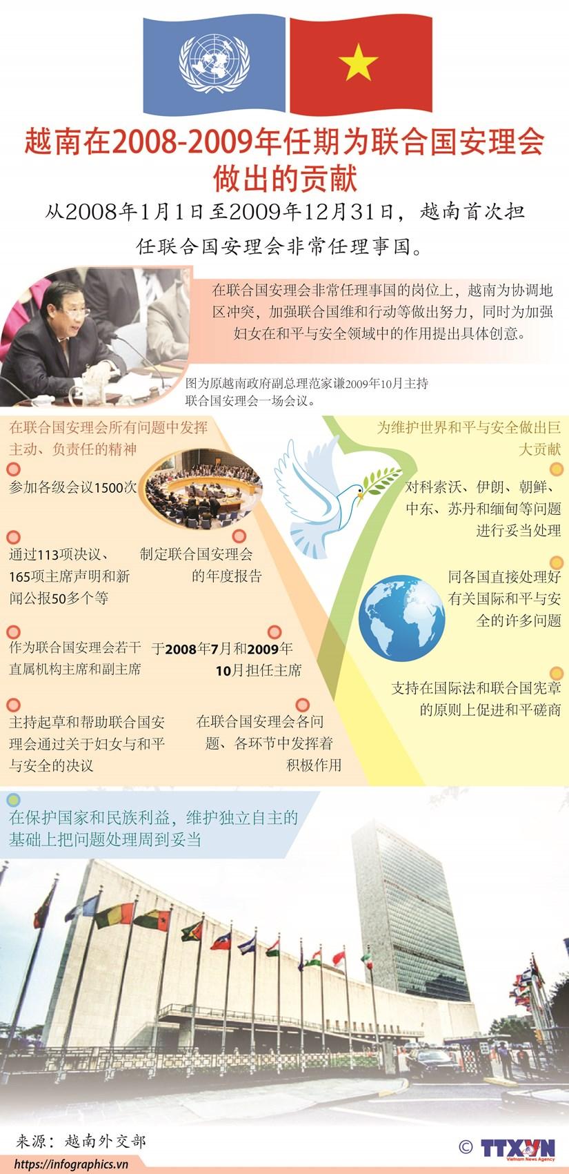 图表新闻:越南在2008-2009年任期为联合国安理会做出的贡献 hinh anh 1