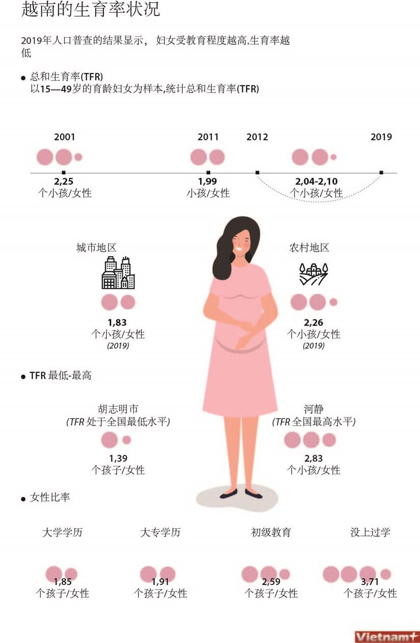 图表新闻:越南的生育率状况 hinh anh 1