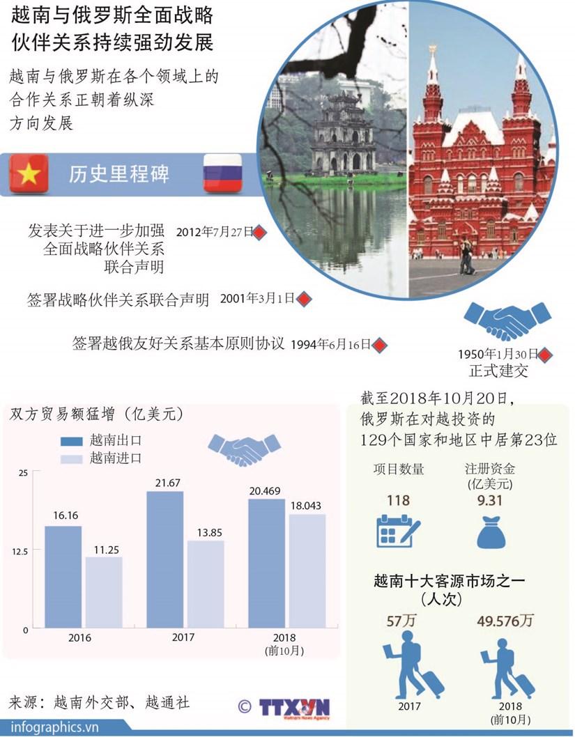 图表新闻:越南与俄罗斯全面战略伙伴关系持续强劲发展 hinh anh 1