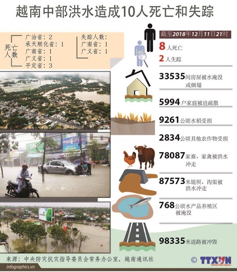 图表新闻:越南中部洪水造成10人死亡和失踪 hinh anh 1