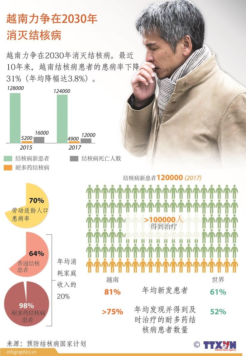 图表新闻:越南力争在2030年消灭结核病 hinh anh 1