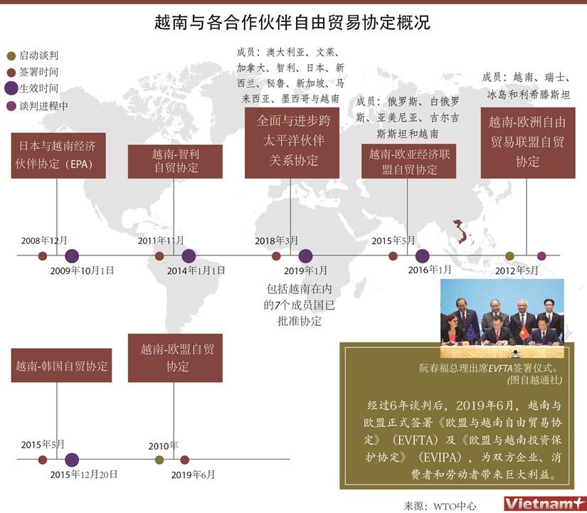图表新闻:越南与各合作伙伴自由贸易协定概况 hinh anh 1