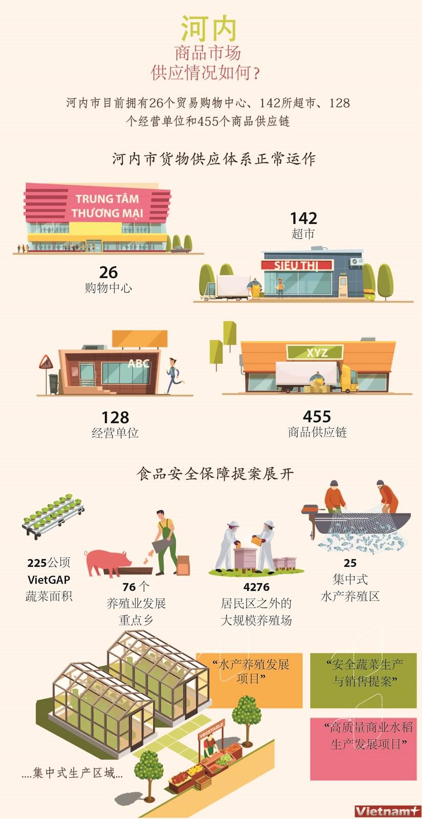 图表新闻:河内商品市场供应情况如何 hinh anh 1