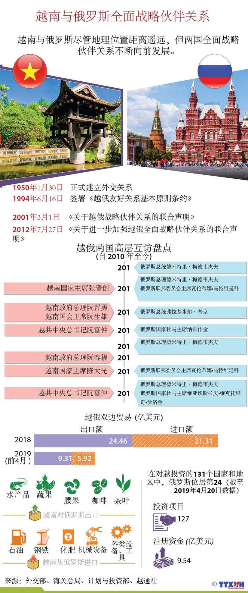 图表新闻:越南与俄罗斯全面战略伙伴关系简介 hinh anh 1
