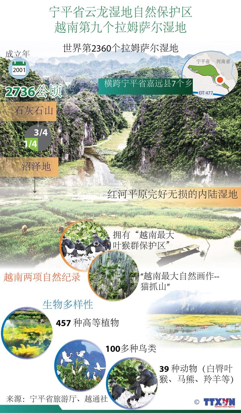 图表新闻:宁平省云龙湿地自然保护区成为越南第九个拉姆萨尔湿地 hinh anh 1