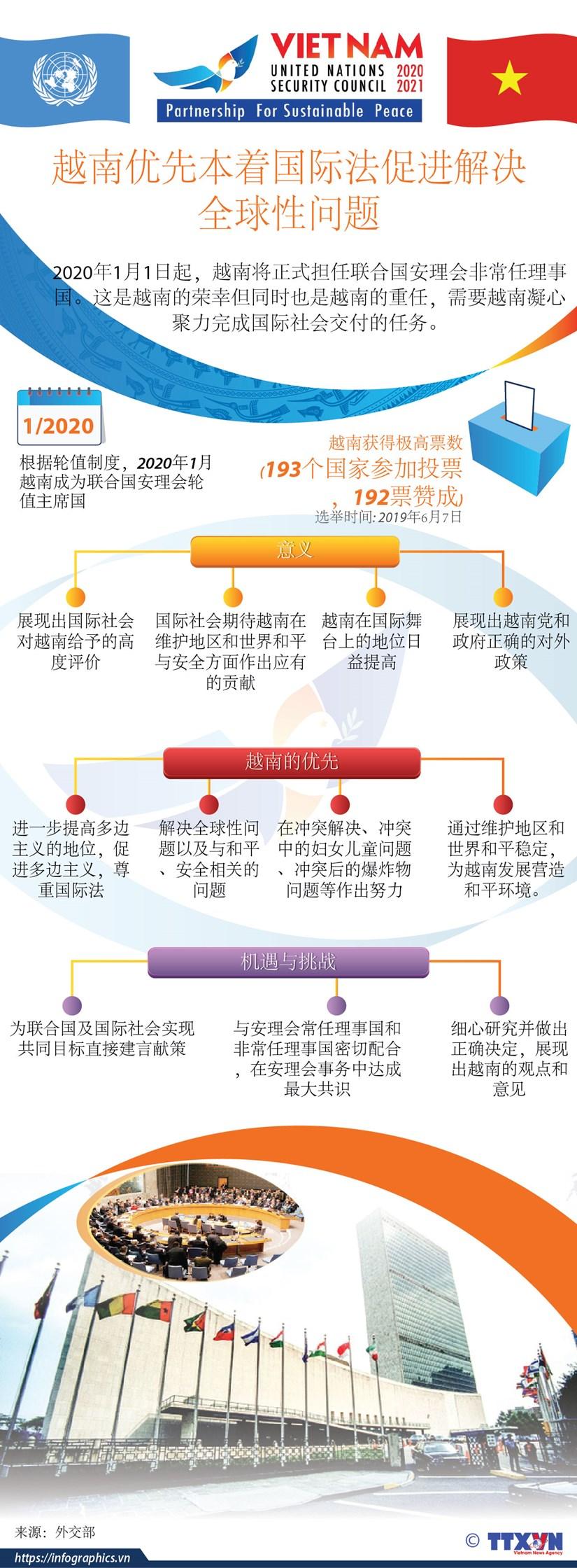 图表新闻:越南优先本着国际法促进解决全球性问题 hinh anh 1