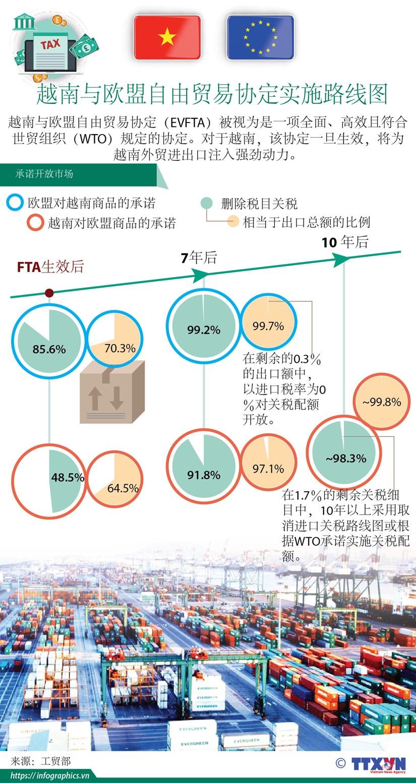 图表新闻:《越南与欧盟自由贸易协定》实施路线图 hinh anh 1