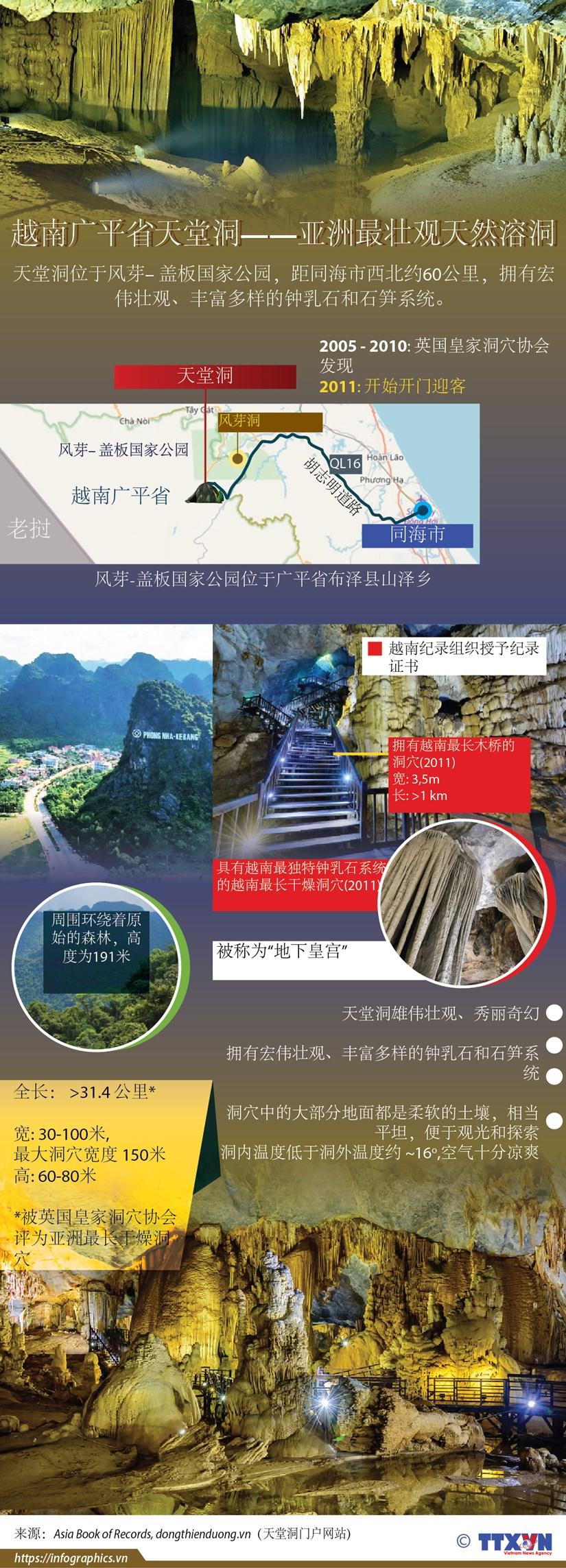 图表新闻:越南广平省天堂洞——亚洲最壮观天然溶洞穴 hinh anh 1