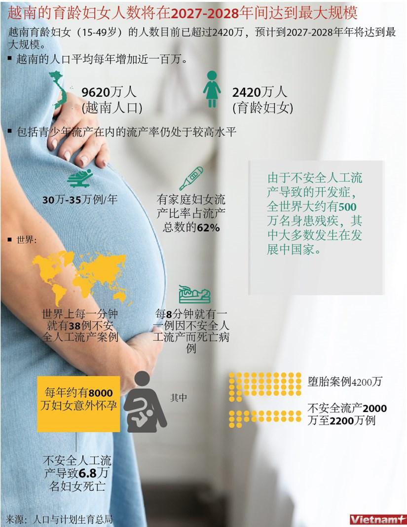 图表新闻:越南的育龄妇女人数将在2027-2028年间达到最大规模 hinh anh 1