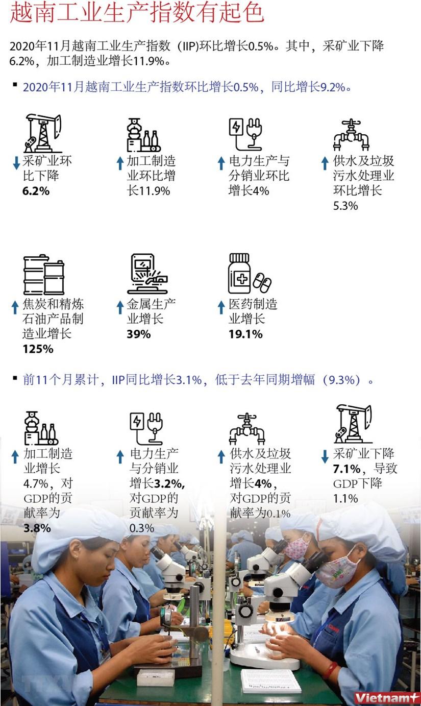 图表新闻:越南工业生产指数有起色 hinh anh 1
