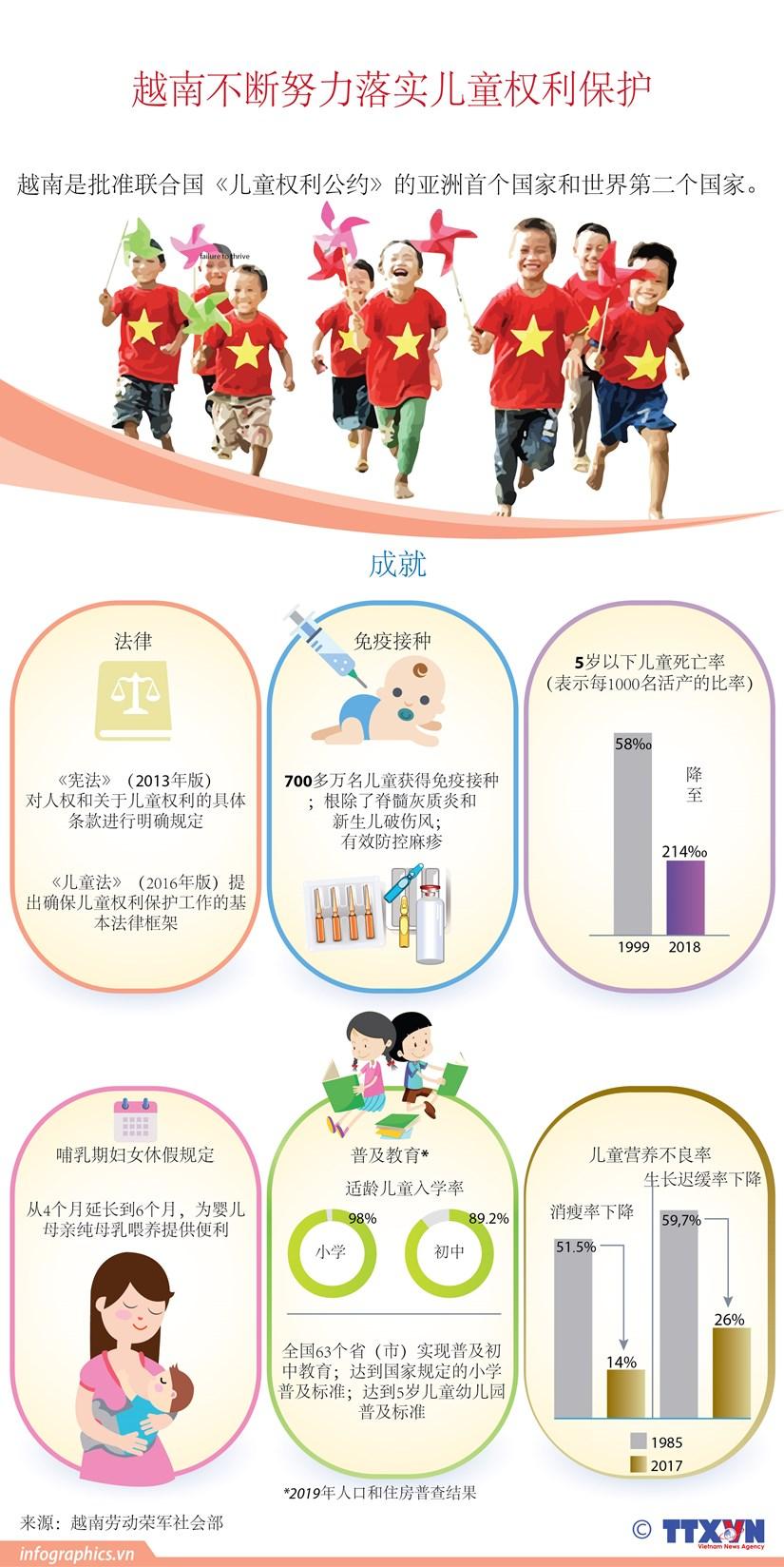 图表新闻:越南不断努力落实儿童权利保护 hinh anh 1