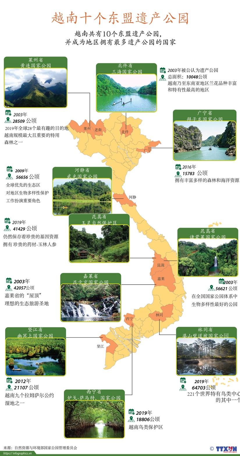 图表新闻:越南十个东盟遗产公园 hinh anh 1