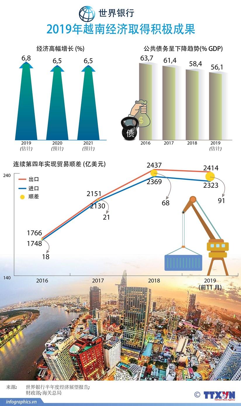 图表新闻:2019年越南经济取得积极成果 hinh anh 1