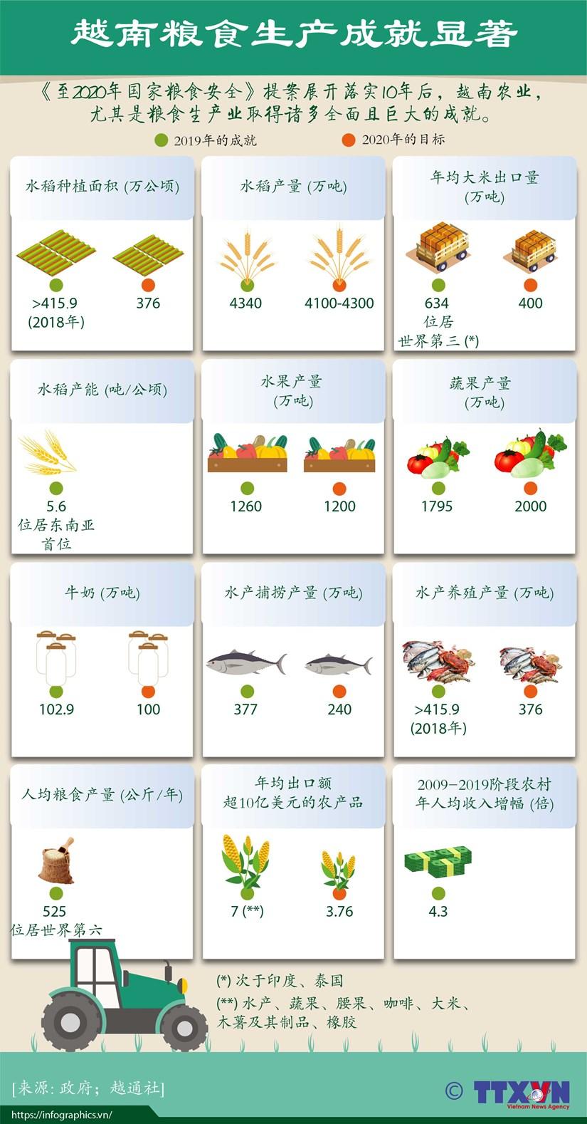 图表新闻:越南粮食生产成就显著 hinh anh 1