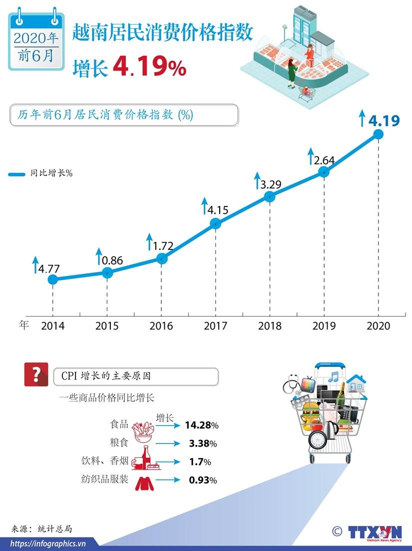 图表新闻:越南居民消费价格指数增长 4.19% hinh anh 1