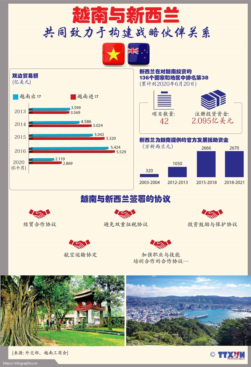 图表新闻:越南与新西兰共同致力于构建战略伙伴关系 hinh anh 1