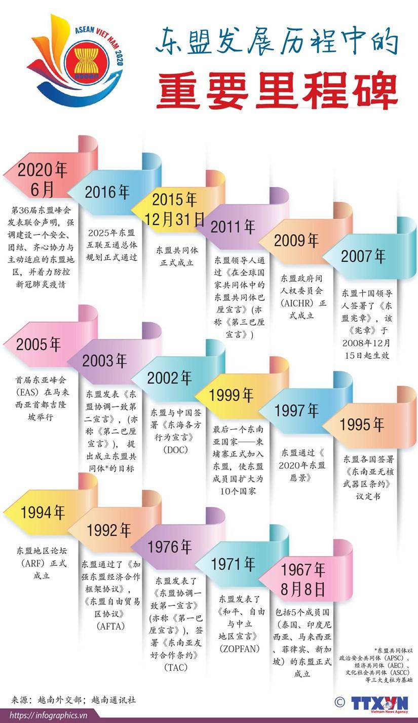 图表新闻:东盟发展历程中的重要里程碑 hinh anh 1