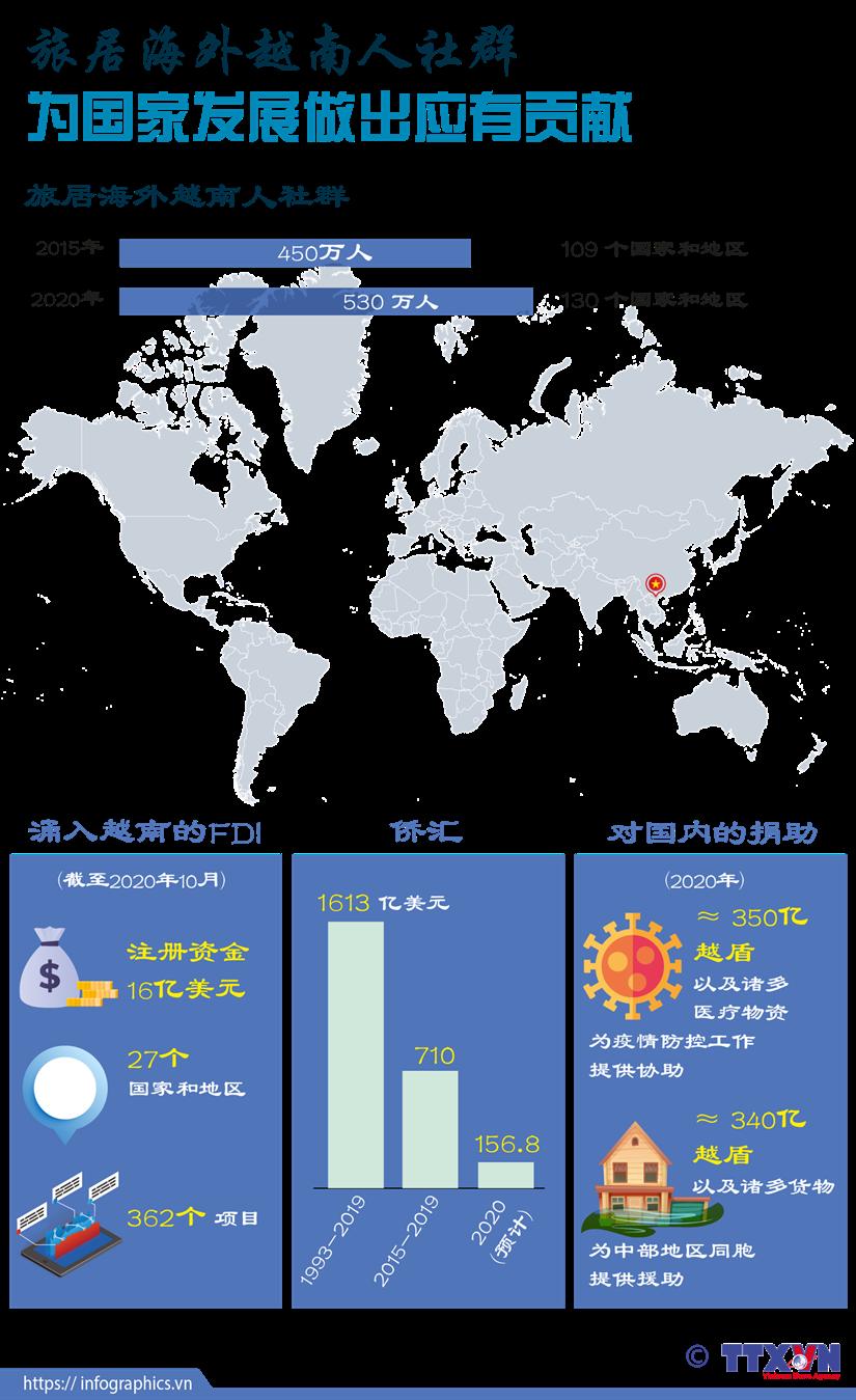 图表新闻:旅居海外越南人社群为国家发展做出应有贡献 hinh anh 1
