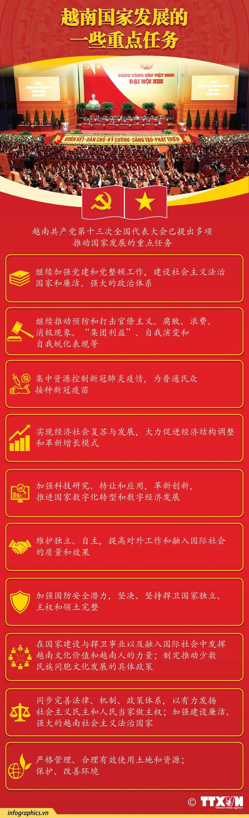 图表新闻:越南国家发展的一些重点任务 hinh anh 1