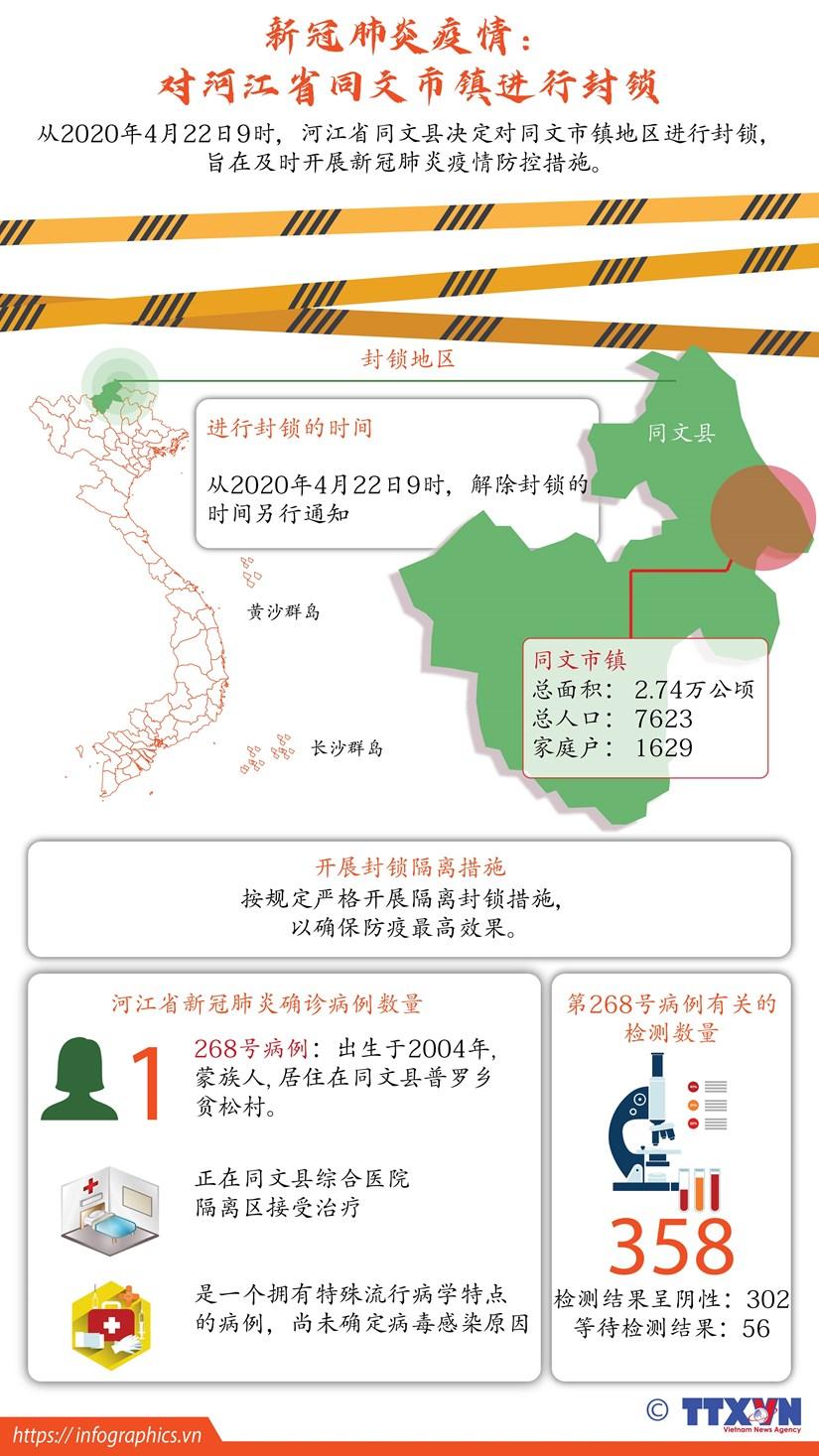 图表新闻:新冠肺炎疫情:河江省同文市镇进行封锁 hinh anh 1